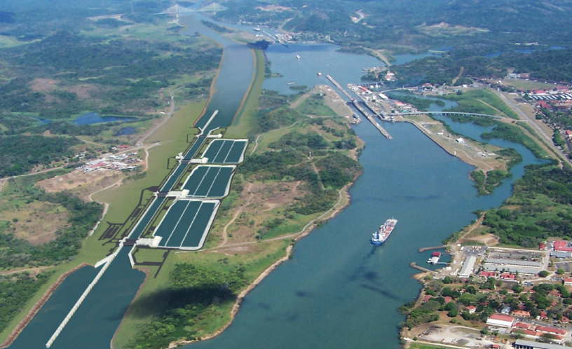 Panama Canal Aerial